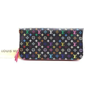 Louis Vuitton Black Multicolore Monogram Wallet